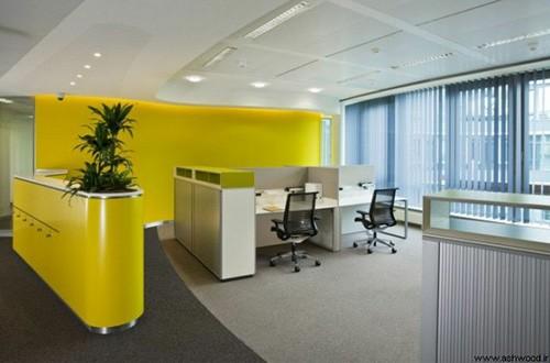 رنگ زرد در محیط اداری