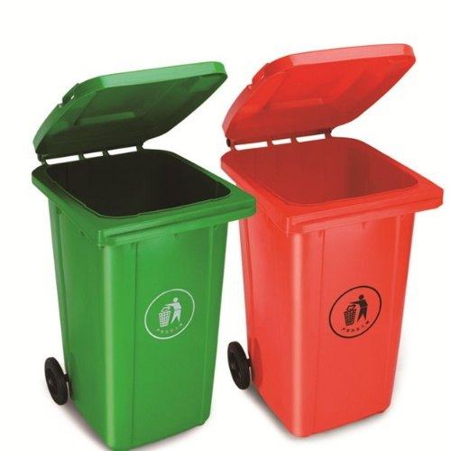 سطل زباله با رنگ و علامت مشخص