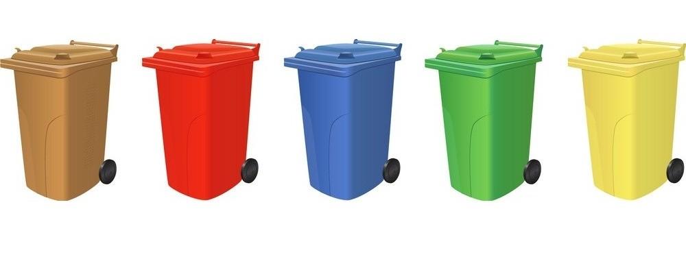 سطل زباله تمام رنگ